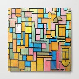 Piet Mondrian Tableau III Metal Print