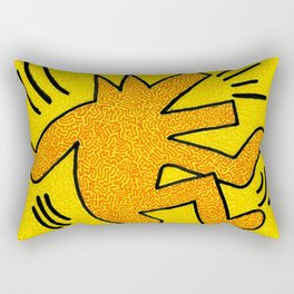 Keith Haring Dancing Dog Rectangular Pillow