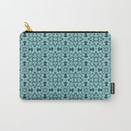Island Paradise Geometric Pattern Carry-All Pouch