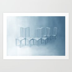 Interconnected Chairs Art Print