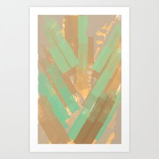 Alligator Skin Art Print