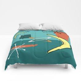 Turquoise Atomic Era Space Age Comforters