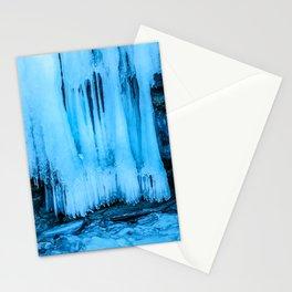 Ice curtain of the lake Baikal Stationery Cards