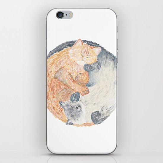 Yin Yang Cats iPhone & iPod Skin