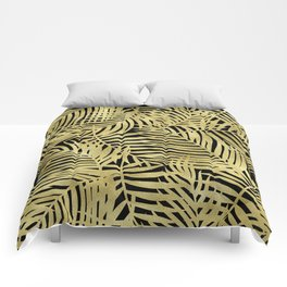 Tropical Island Gold Comforters