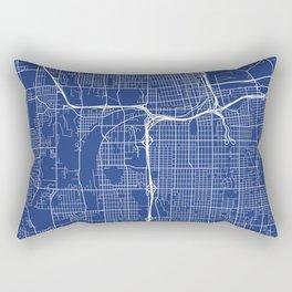 Tacoma Map, USA - Blue Rectangular Pillow