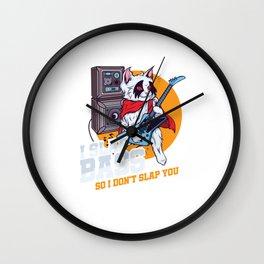 I Slap Bass Guitar Music Bands Electric Bassist Guitarists Musicians Gift Wall Clock