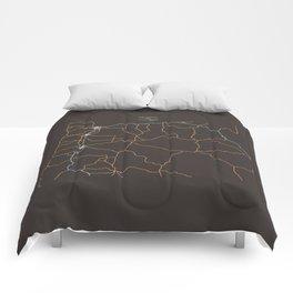Oregon Highways Comforters