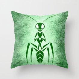 Demon Mantis Throw Pillow