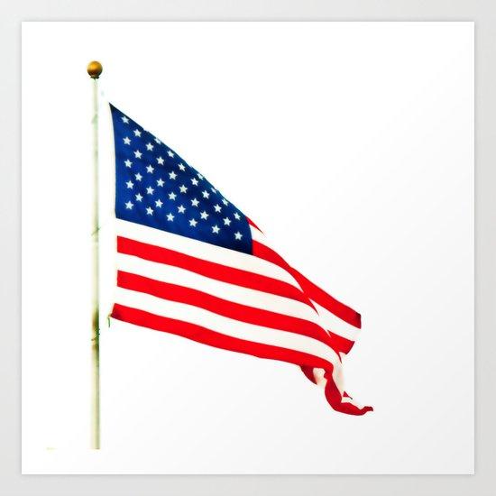 Abstract American Flag Art Print