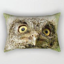 Western Screech Owl Baby Rectangular Pillow