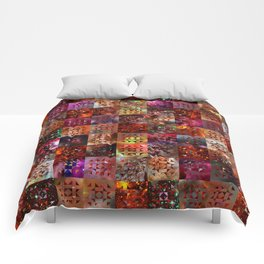 Warm Colors Galaxy Quilt Pattern Comforters