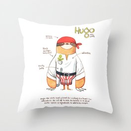 Hugo the Sloth Throw Pillow