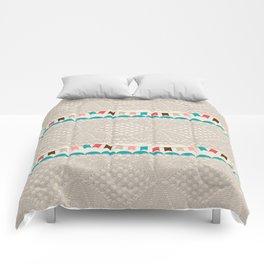 Vintage elegant ivory floral lace colorful flags pattern Comforters