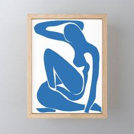 Matisse Cut Out Figure #1 Light Blue Framed Mini Art Print
