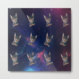 Space Angry Cat, Funny Cute Galaxy Cat Gift, Cat Lover, Dank Meme Space Kitty, Animal Lover, Kitten Metal Print