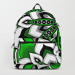 Mandala : Green Flower Mandala Backpack