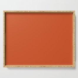Color orange Serving Tray