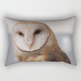 Barn Owl on Alert Rectangular Pillow
