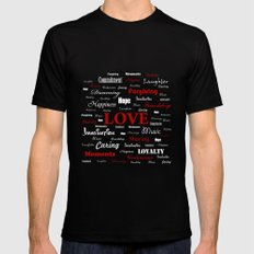 Love is a Strawberry Ice Cream MEDIUM Black Mens Fitted Tee