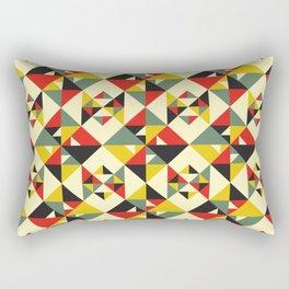 Folded Geometric Pattern - Red/Yellow/Green Rectangular Pillow
