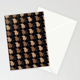 Native American Buffalo Running Stationery Cards