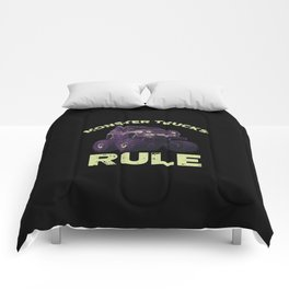 Awesome Monster Trucks Rule Funny Trucks Gift Comforters