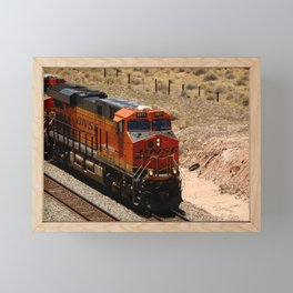 BNSF Engine Framed Mini Art Print