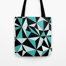 Geo - blue, gray and black. Tote Bag