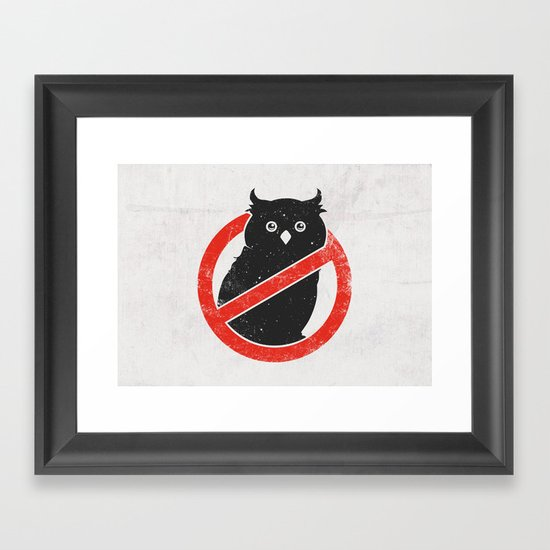 No Owls Framed Art Print