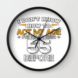 Funny Birthday Gift 55 Years Sixty Born in 1963 Wall Clock