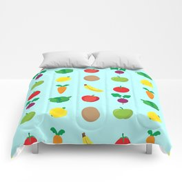 A Cute Concoction of Fruit and Vegetables. Vegan Heaven! Comforters