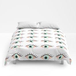 Sweet Evil Eyes Comforters