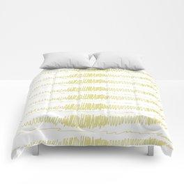 Golden Scribbles 1 Comforters