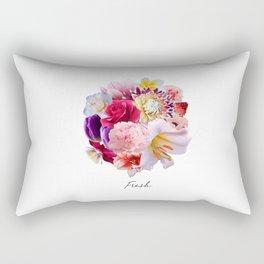 Fresh Flowers Rectangular Pillow