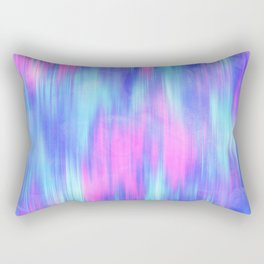 Aurora - Blur Abstract in Pink, Purple, Aqua & Royal Blue Rectangular Pillow
