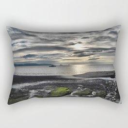 Cloudy Paignton Beach Rectangular Pillow