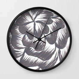 Dusty Purple Dahila Wall Clock