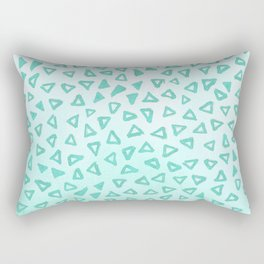 Teal Glitter Triangles Rectangular Pillow