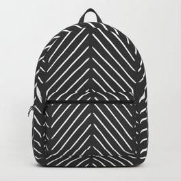 Diagonal Mudcloth Gray Backpack