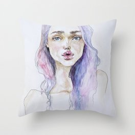 Lavender baby Throw Pillow