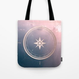 The Edge of Tomorrow - Rosegold Compass Tote Bag