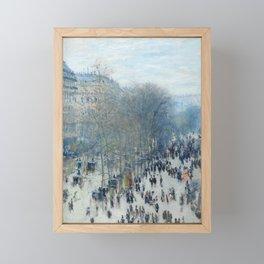 Claude Monet - Boulevard des Capucines, 1873 Framed Mini Art Print