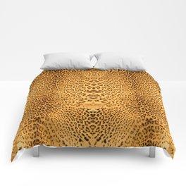 Brown Beige Leopard Animal Print Comforters