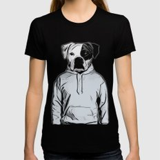 Cool Dog SMALL Womens Fitted Tee Black