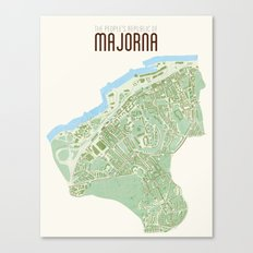 Map of the people's republic of Majorna Canvas Print