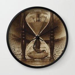 Sands of Time ... Memento Mori - Sepia Wall Clock