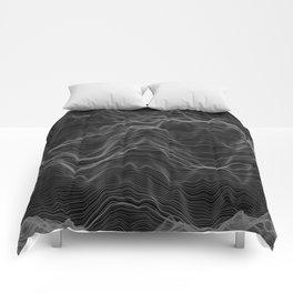 Soft Peaks Black Comforters