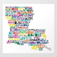 Louisiana Typography Art Print