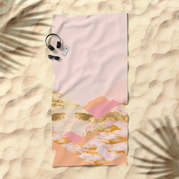 Graphic Mountains S Beach Towel